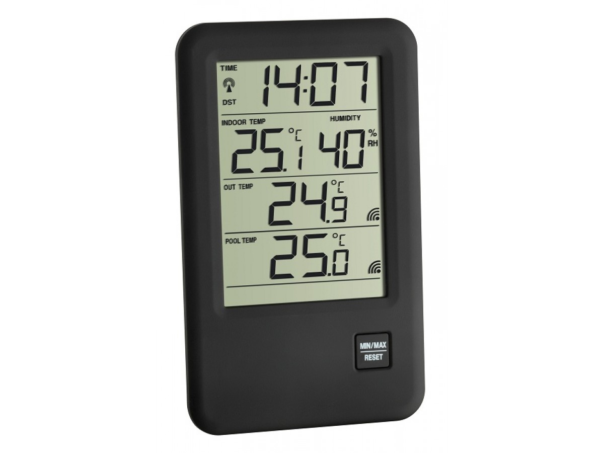 Statie meteo digitala Malibu cu 2 senzori externi wireless pentru piscine TFA S30.3053.IT imagine 2021 soldec-shop.ro