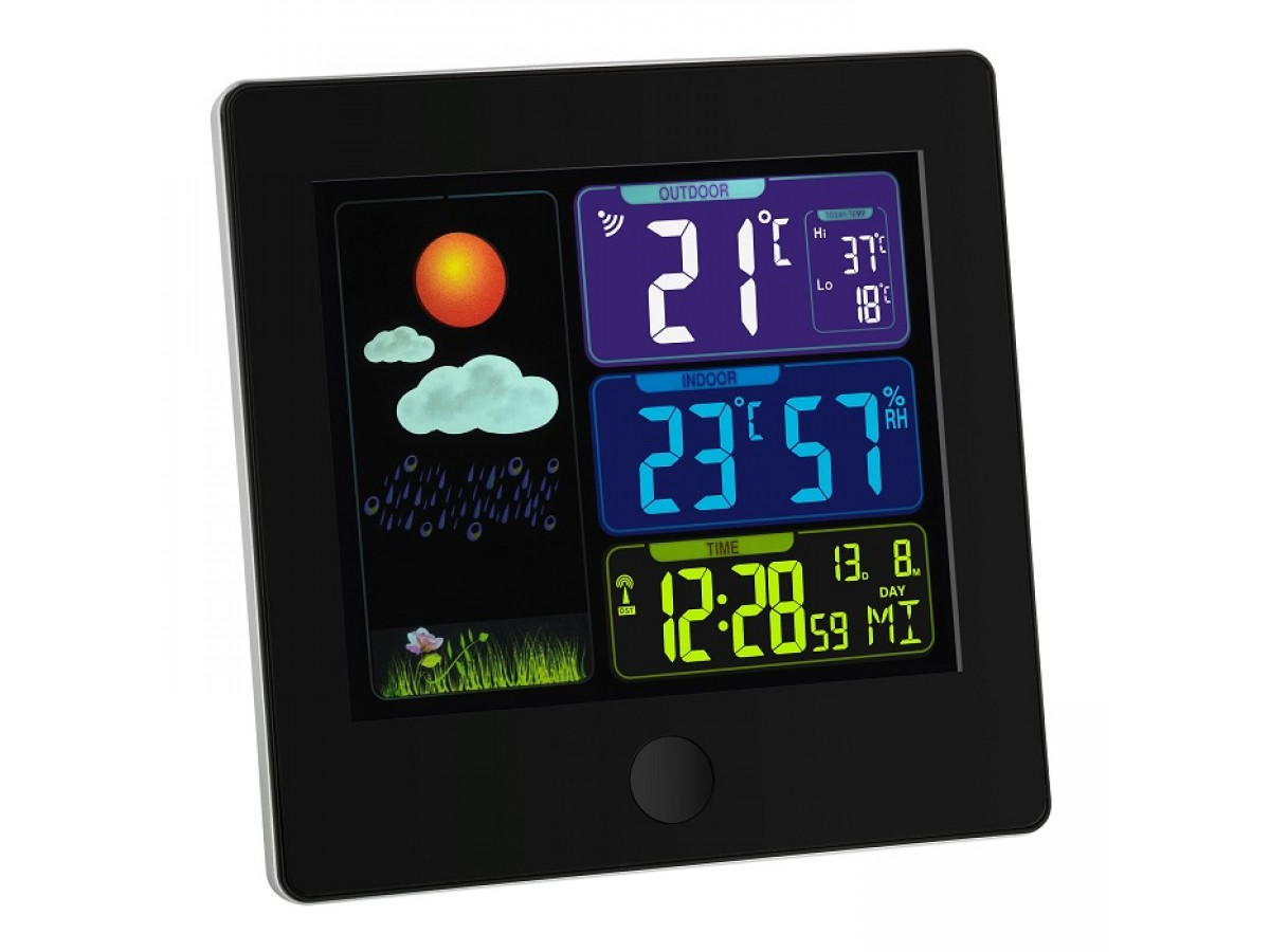 Statie meteo digitala Sun cu senzor extern wireless TFA S35.1133.01 imagine 2021 soldec-shop.ro