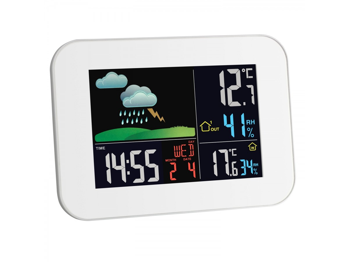 Statie meteo digitala Primavera cu senzor extern wireless TFA S35.1136.02 imagine 2021 soldec-shop.ro