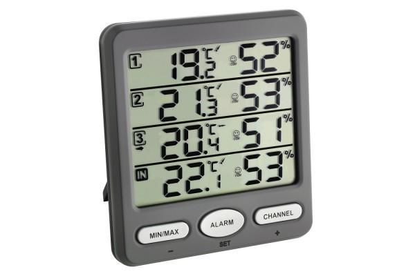 Statie meteo digitala Klima-Monitor cu 3 senzori externi wireless TFA S30.3054.10