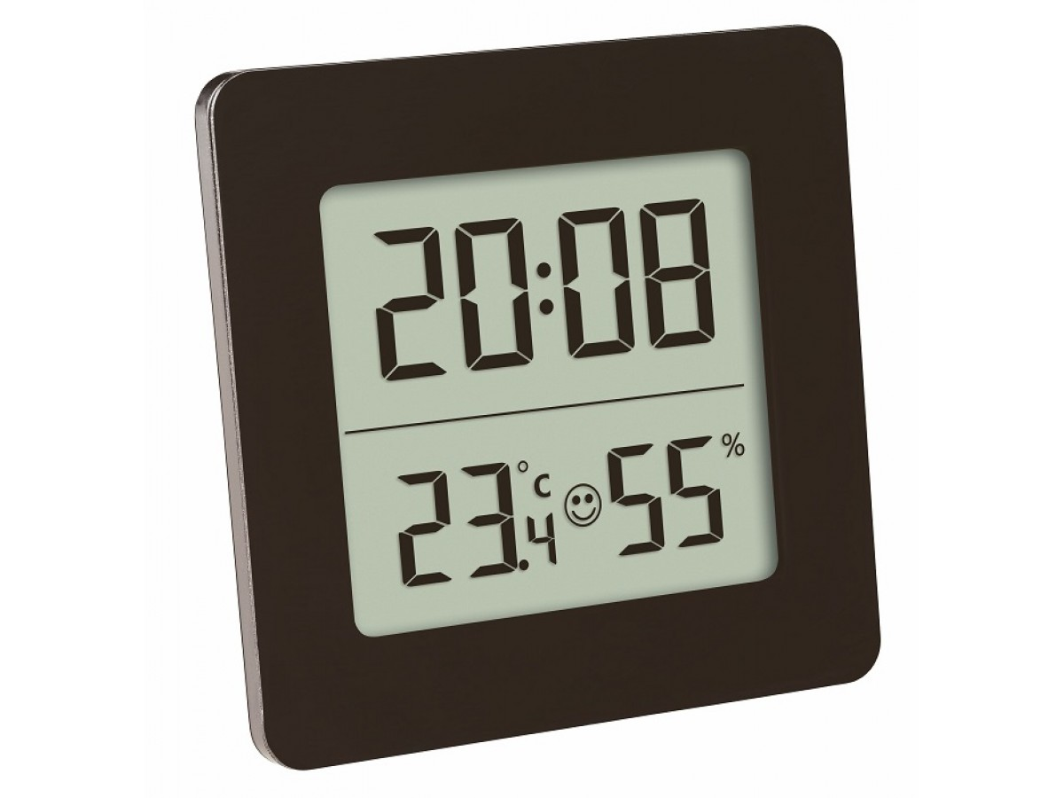 Termohigrometru digital cu ceas TFA S30.5038.01 imagine 2021 soldec-shop.ro