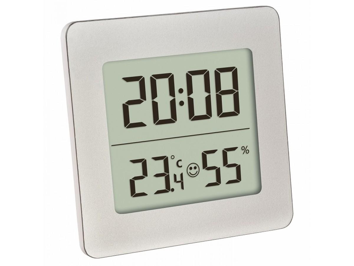 Termohigrometru digital cu ceas TFA S30.5038.54 imagine 2021 soldec-shop.ro