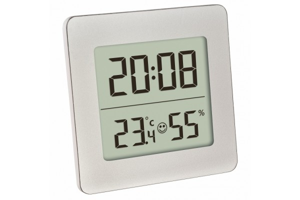 Termohigrometru digital cu ceas TFA S30.5038.54
