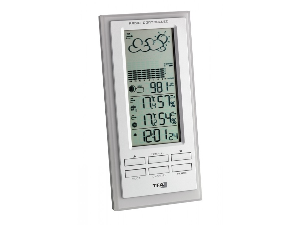 Statie meteo digitala Faktum cu senzor extern wireless TFA S35.1101.02 imagine 2021 soldec-shop.ro