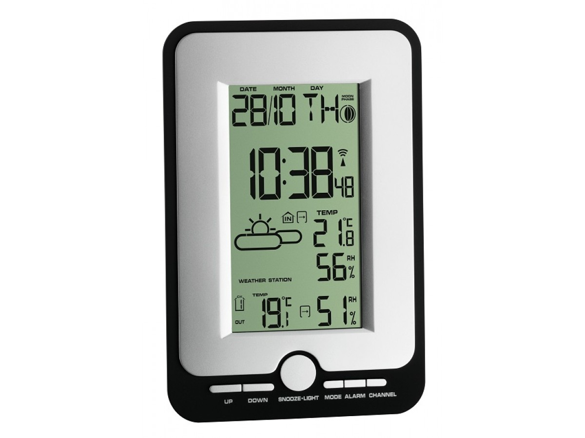 Statie meteo digitala Multy cu senzor extern wireless TFA S35.1134.10 imagine 2021 soldec-shop.ro