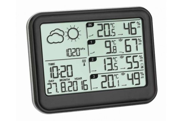 Statie meteo digitala View cu 3 senzori externi wireless TFA S35.1142.01