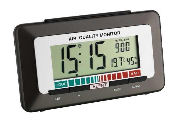 Monitor calitate aer cu ceas, higrometru si nivel CO2 TFA S60.2527.10