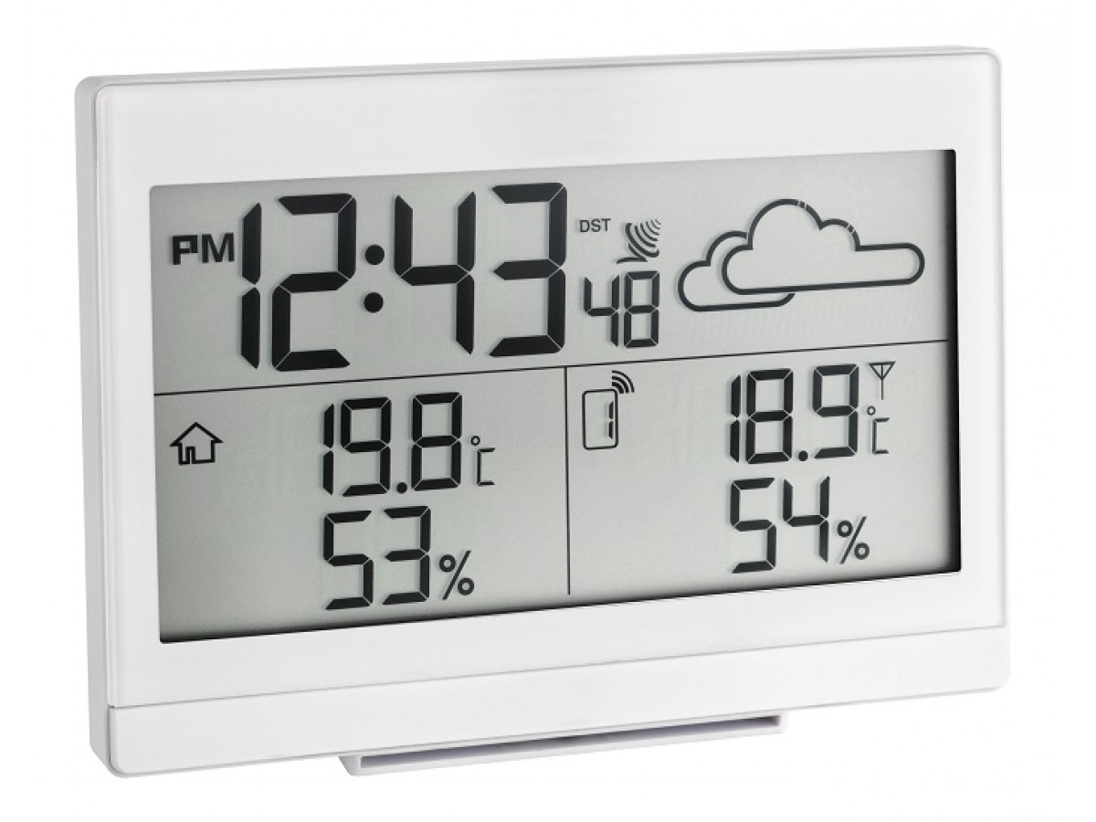 Statie meteo digitala Casa cu senzor extern wireless alba TFA S35.1135.02 imagine 2021 soldec-shop.ro