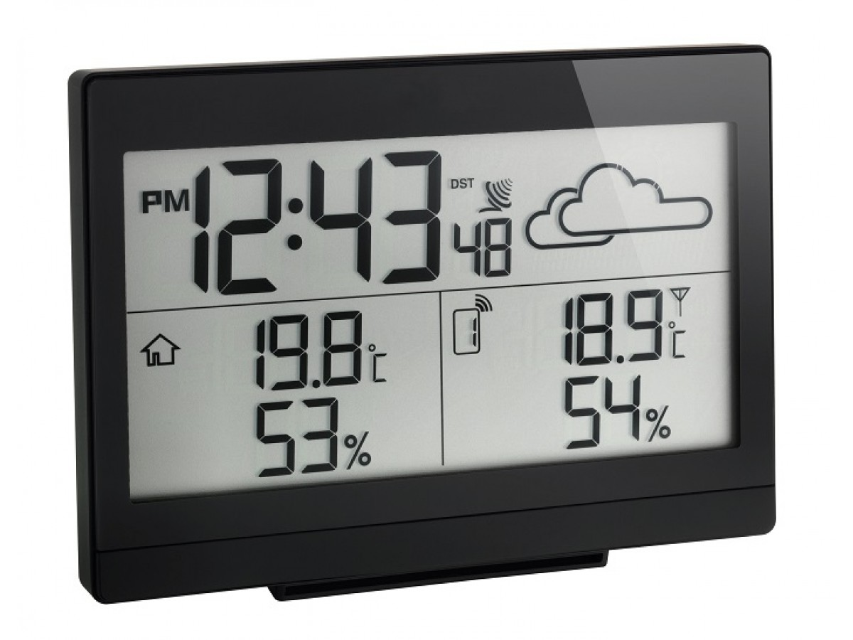 Statie meteo digitala Casa cu senzor extern wireless negru TFA S35.1135.01 imagine 2021 soldec-shop.ro