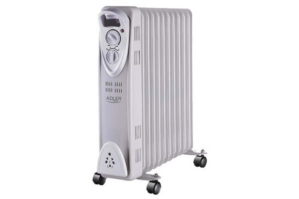 Calorifer electric Adler AD 7809, termostat, 11 elemente, 2500W