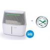 Pachet Umidificator cu evaporare Alaze, senzor umiditate cu culori cu termohigrometru cadou