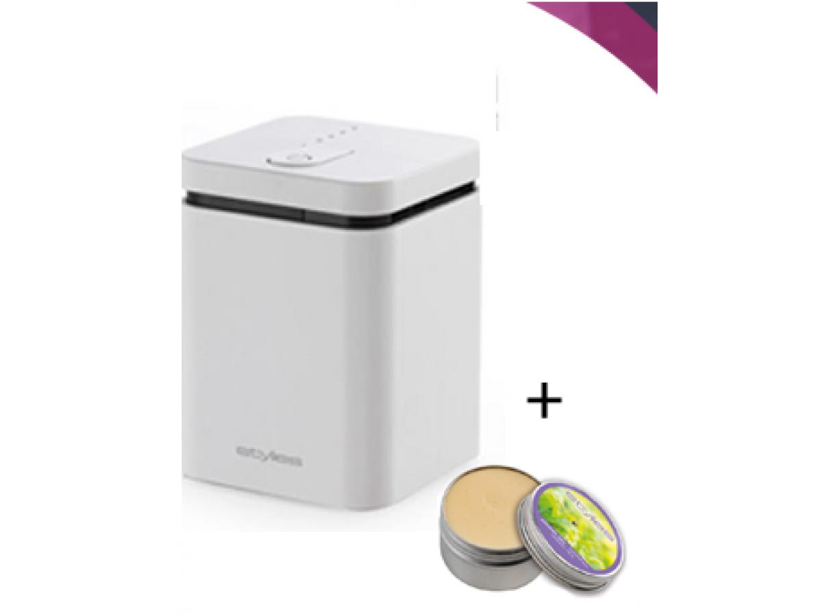 Pachet Difuzor arome Elara Alb + aroma gel Spring imagine 2021 soldec-shop.ro