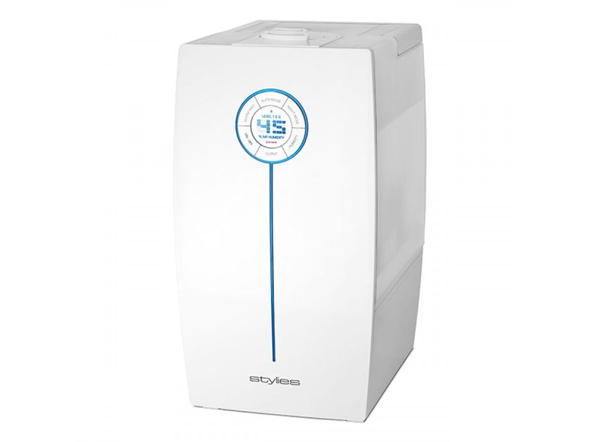 Umidificator cu ultrasunete Hera Alb, 9,6 litri/zi, afisaj electronic, setare umiditate, timer, silver cube, abur cald/rece imagine 2021 soldec-shop.ro