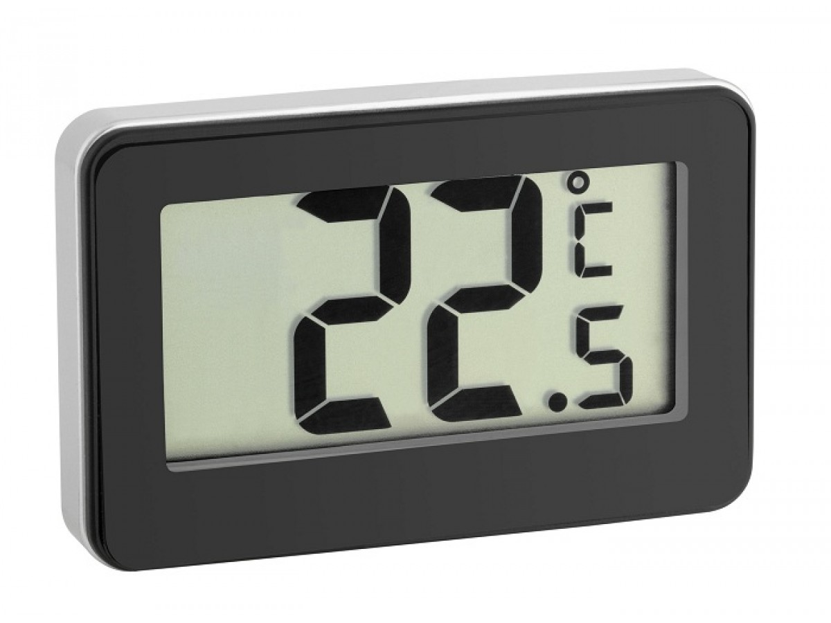 Termometru digital cu magnet si suport negru TFA S30.2028.01 imagine 2021 soldec-shop.ro