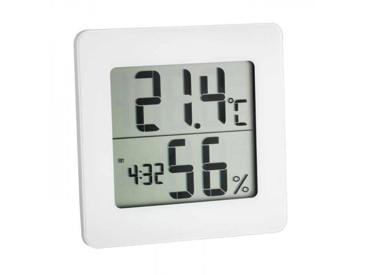 Termohigrometru digital cu ceas si alarma TFA S30.5033.02 imagine 2021 soldec-shop.ro