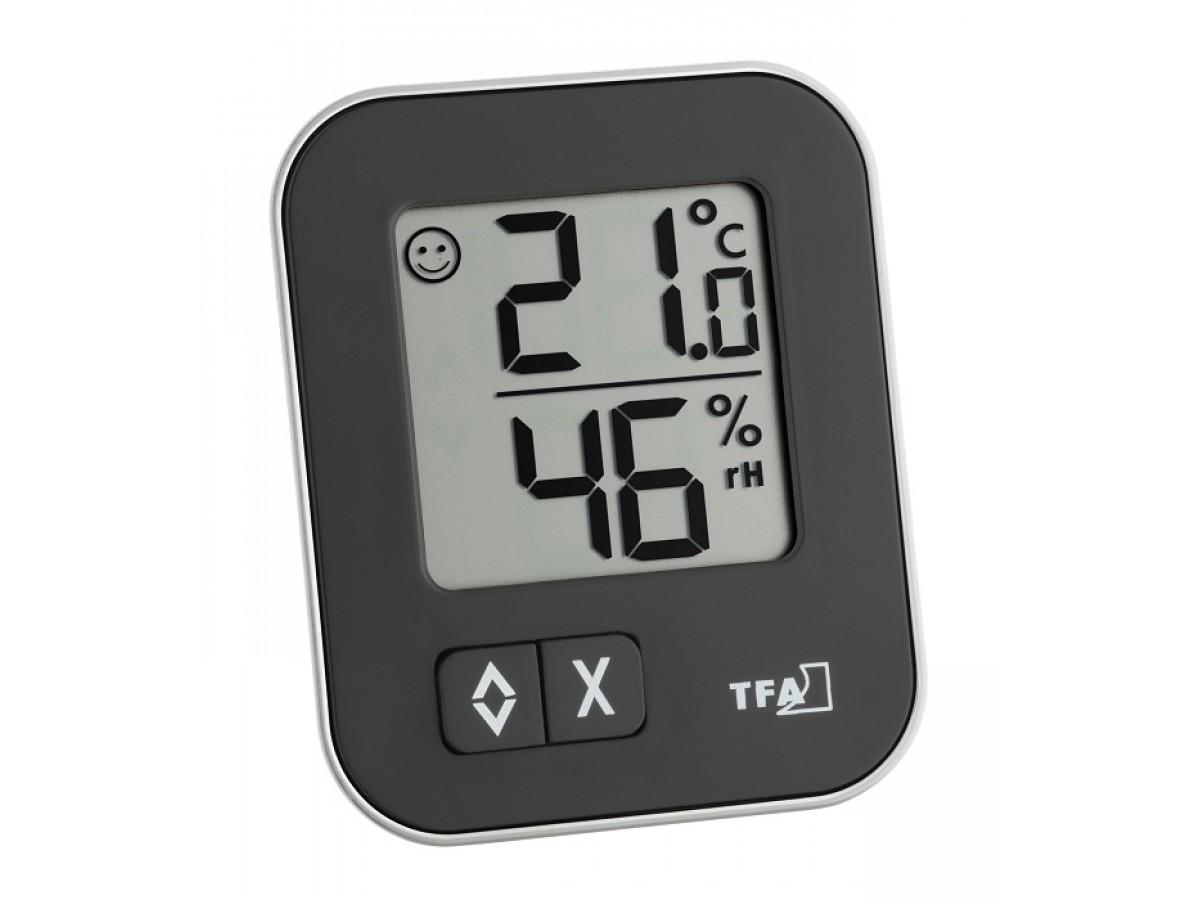 Termohigrometru digital Negru TFA S30.5026.01 imagine 2021 soldec-shop.ro