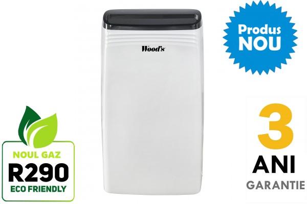 Dezumidificator Woods MDK21 Capacitate 20 litri/zi silentios setare umiditate afisaj electronic timer