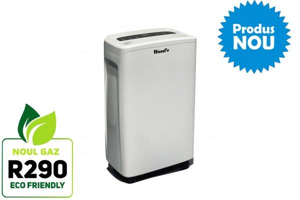 Dezumidificator Woods MDX14 Capacitate 10 litri/zi silentios setare umiditate afisaj electronic timer
