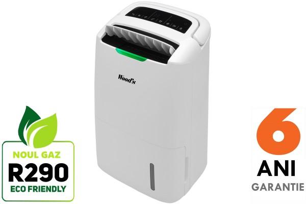 Dezumidificator si Purificator Woods AD20G filtre ION HEPA 20 litri/zi Indicator calitate aer Timer
